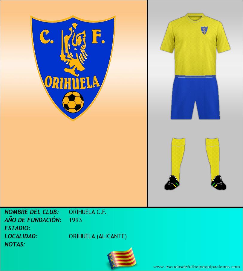 Escudo de ORIHUELA C.F.