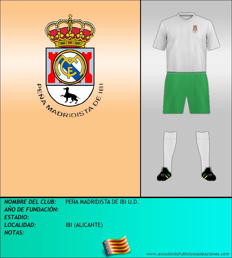 Escudo de PEÑA MADRIDISTA DE IBI U.D.