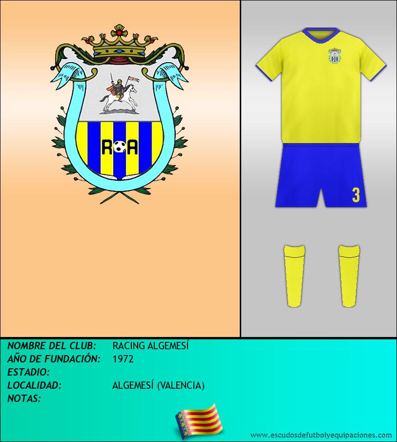 Escudo de RACING ALGEMESÍ