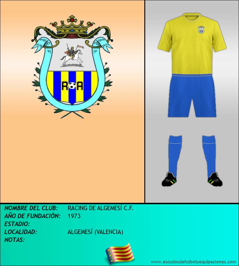 Escudo de RACING DE ALGEMESÍ C.F.