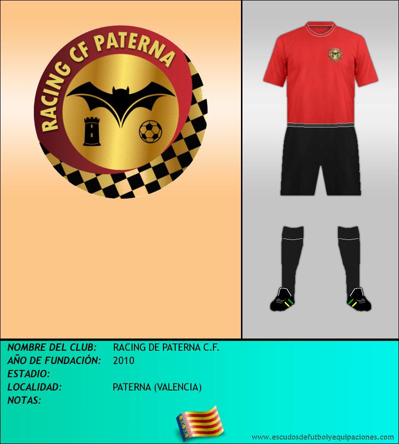 Escudo de RACING DE PATERNA C.F.