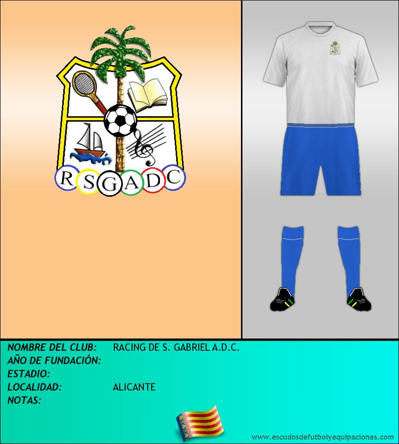 Escudo de RACING DE S. GABRIEL A.D.C.