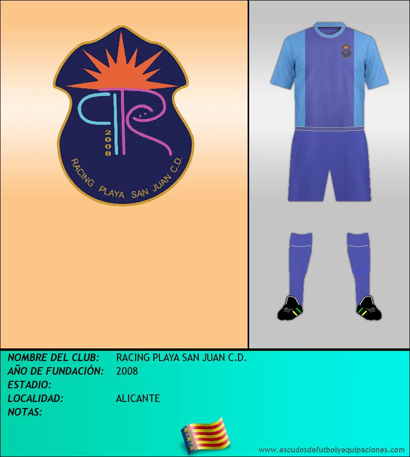 Escudo de RACING PLAYA SAN JUAN C.D.