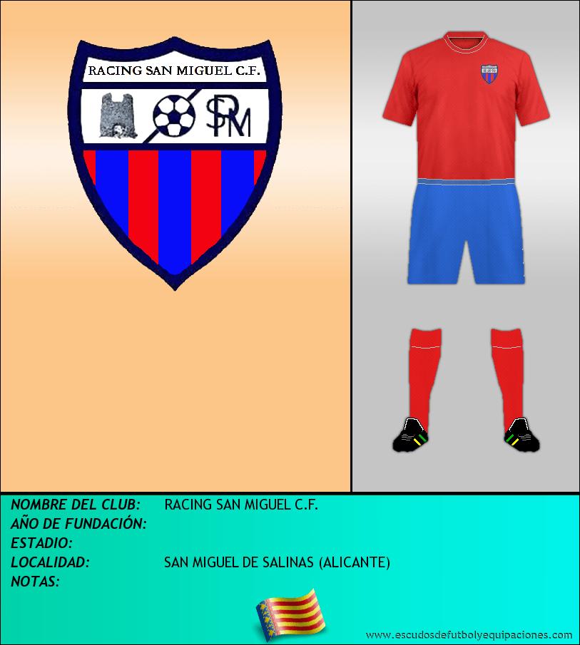 Escudo de RACING SAN MIGUEL C.F.