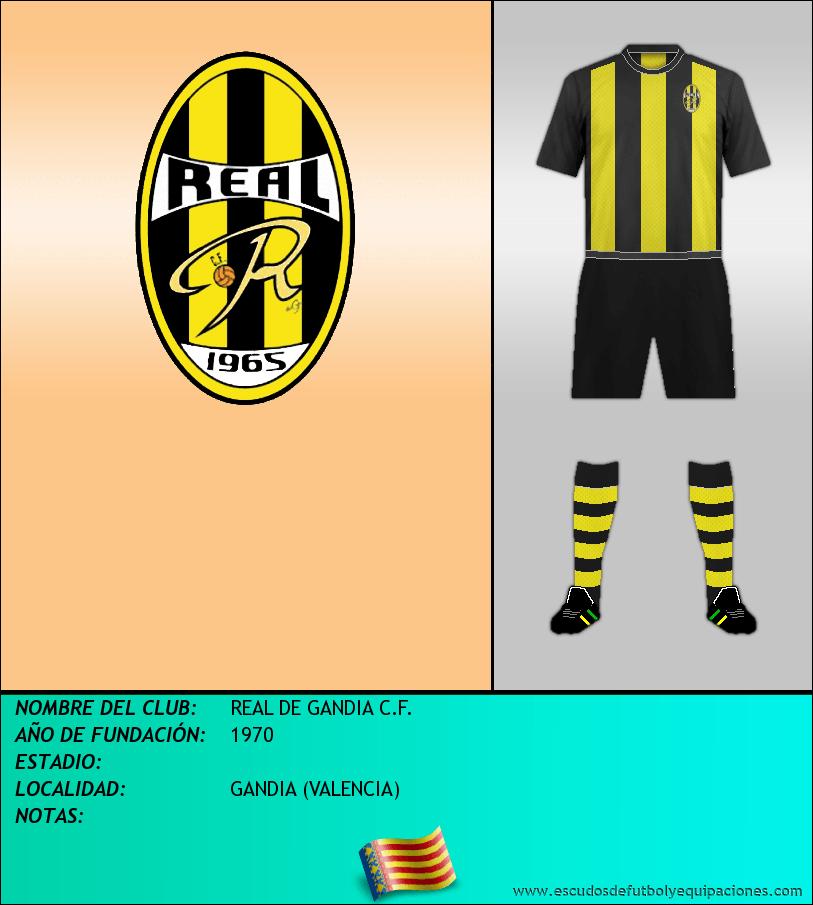 Escudo de REAL DE GANDIA C.F.