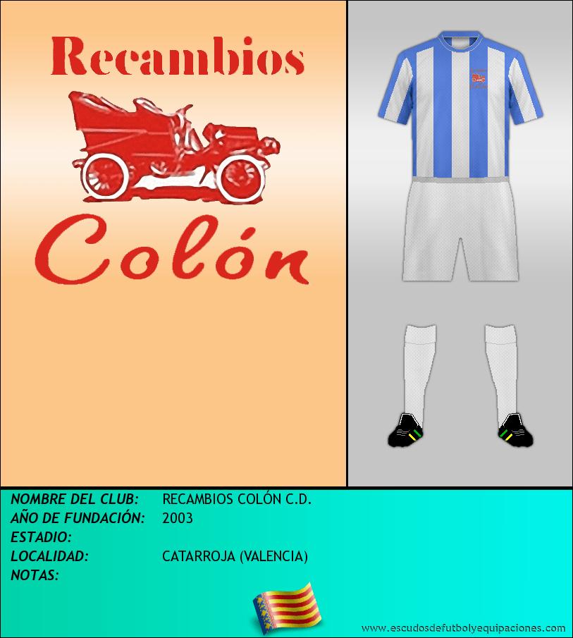 Escudo de RECAMBIOS COLÓN C.D.