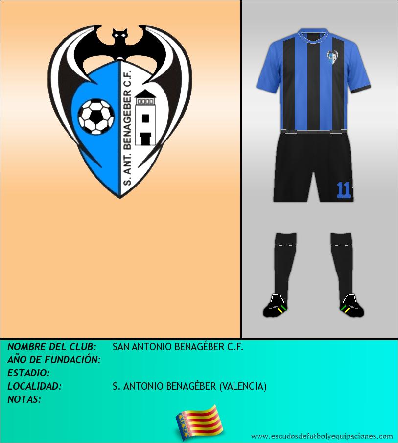 Escudo de SAN ANTONIO BENAGÉBER C.F.