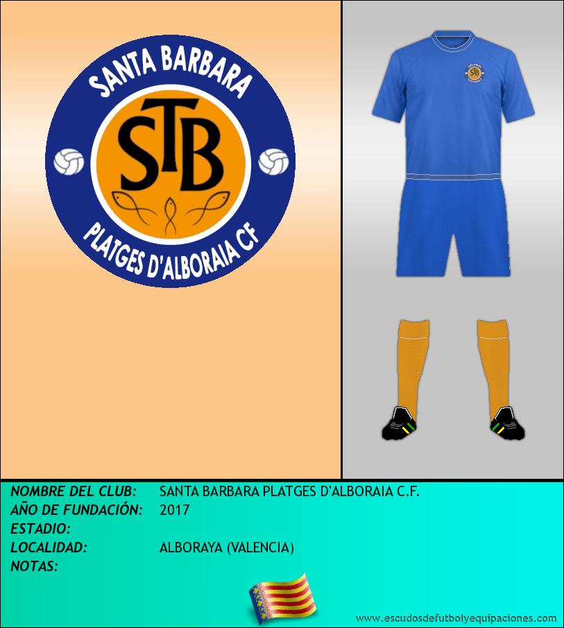Escudo de SANTA BARBARA PLATGES D'ALBORAIA C.F.