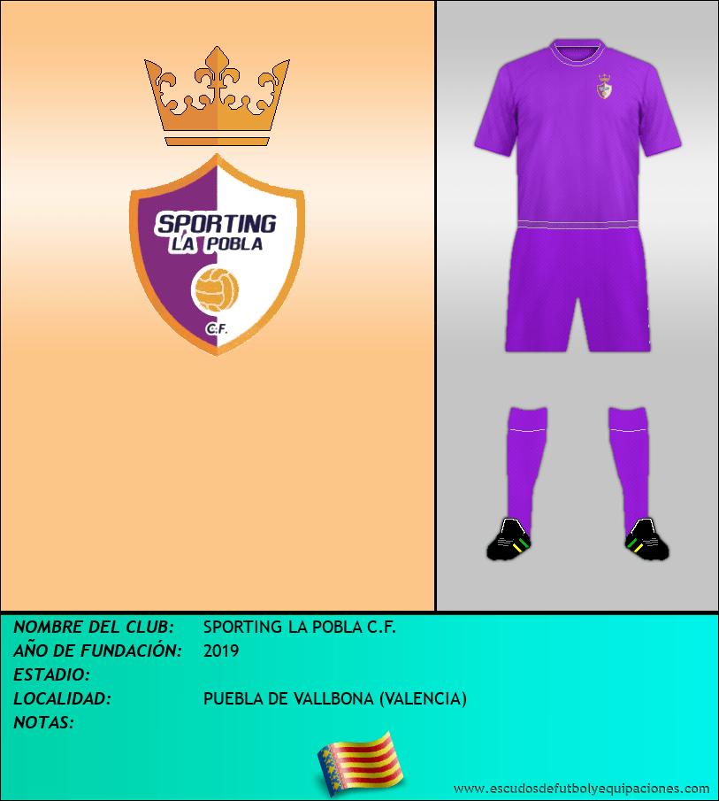 Escudo de SPORTING LA POBLA C.F.