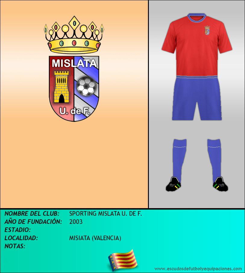 Escudo de SPORTING MISLATA U. DE F.