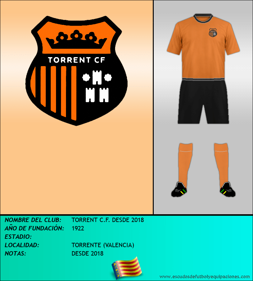 Escudo de TORRENT C.F. DESDE 2018