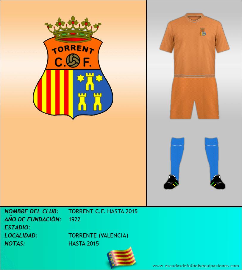 Escudo de TORRENT C.F. HASTA 2015
