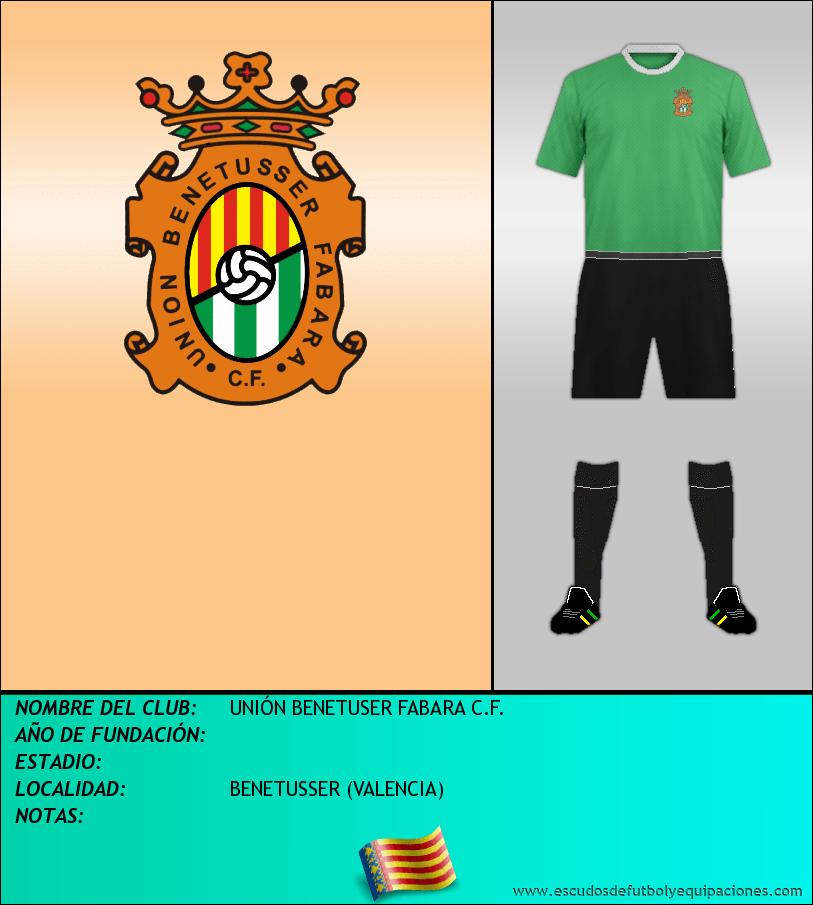 Escudo de UNIÓN BENETUSER FABARA C.F.