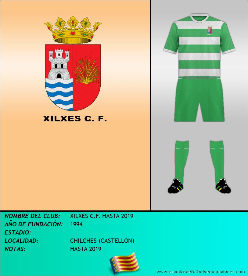 Escudo de XILXES C.F. HASTA 2019