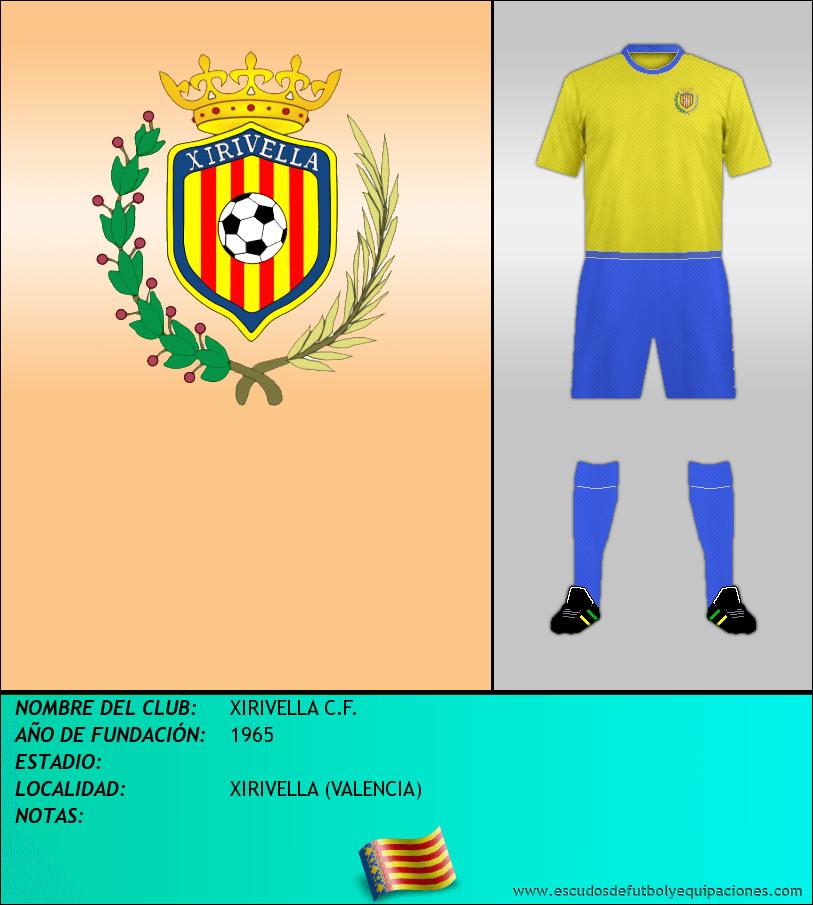 Escudo de XIRIVELLA C.F.