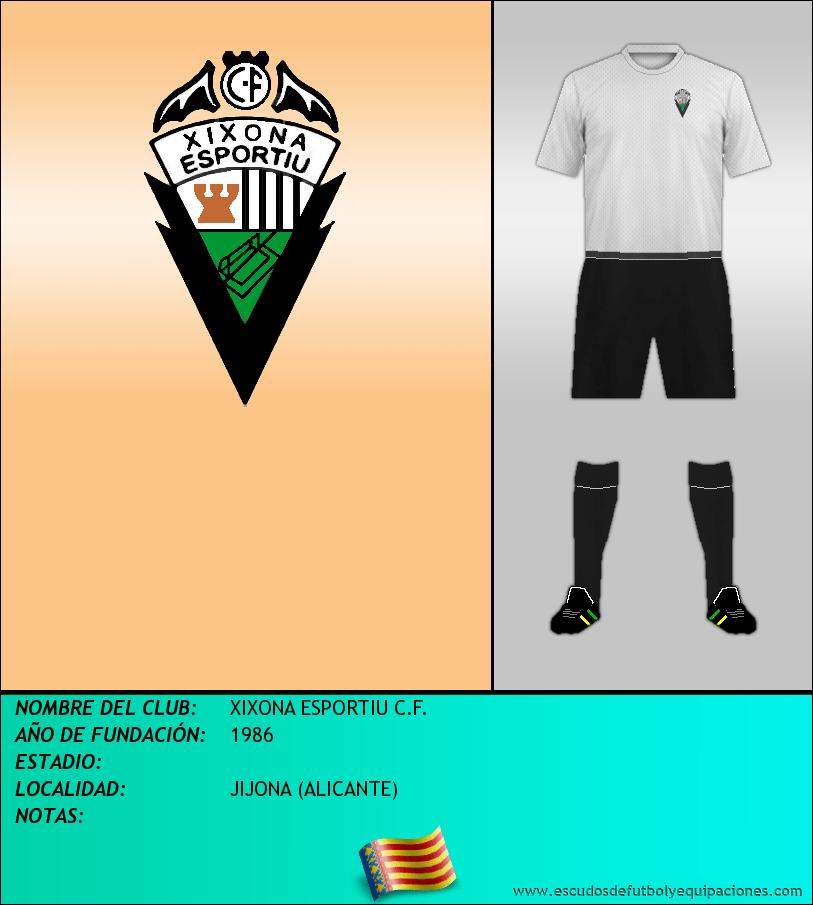 Escudo de XIXONA ESPORTIU C.F.