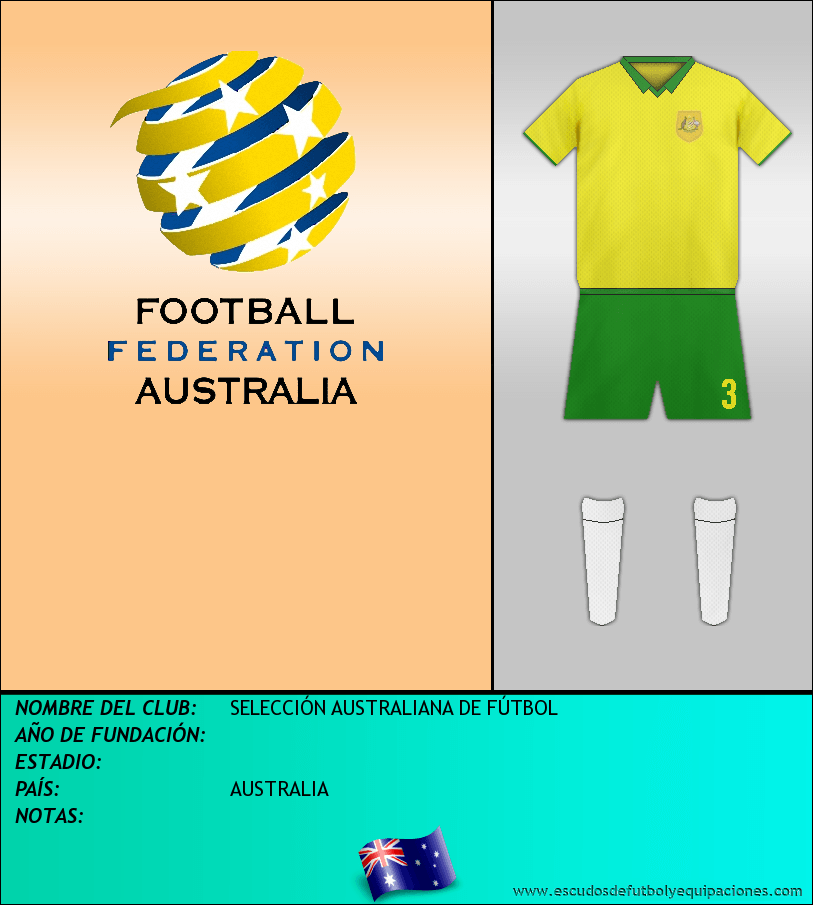 Escudo de SELECCIÓN AUSTRALIANA DE FÚTBOL