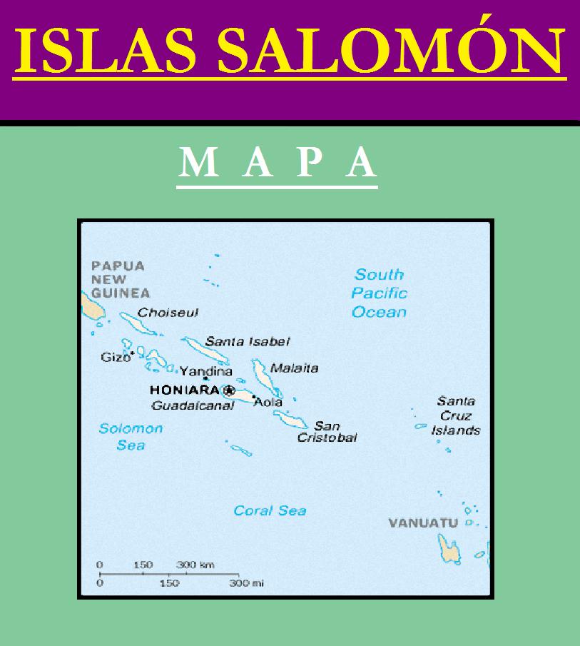 Escudo de MAPA DE ISLAS SALOMÓN