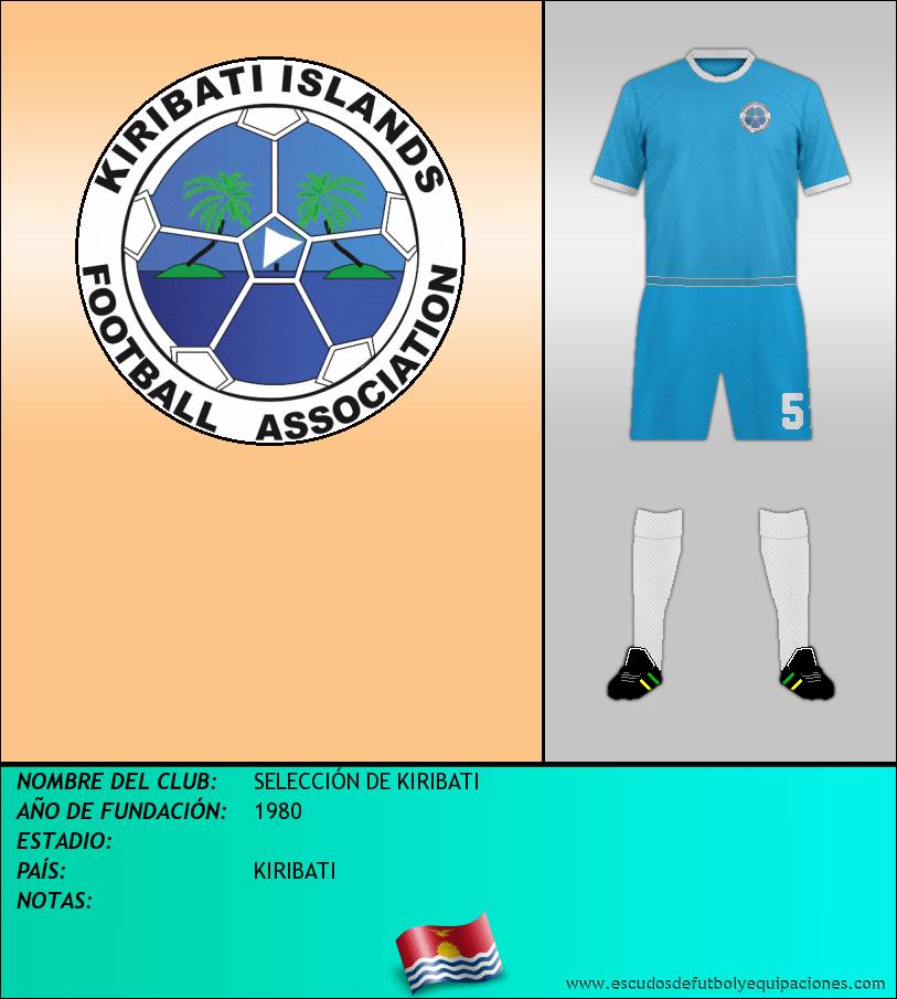 Escudo de SELECCIÓN DE KIRIBATI