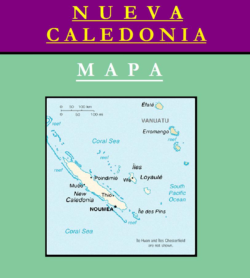 Escudo de MAPA DE NUEVA CALEDONIA