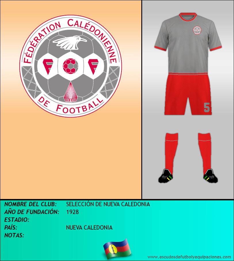 Escudo de SELECCIÓN DE NUEVA CALEDONIA