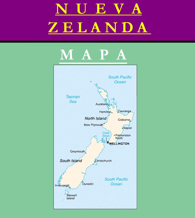 Escudo de MAPA DE NUEVA ZELANDA