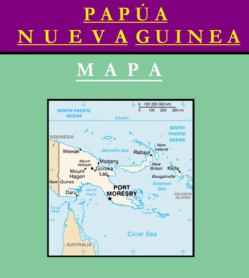 Escudo de MAPA DE PAPÚA NUEVA GUINEA