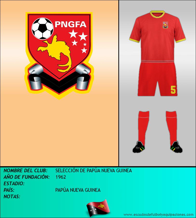 Escudo de SELECCIÓN DE PAPÚA NUEVA GUINEA