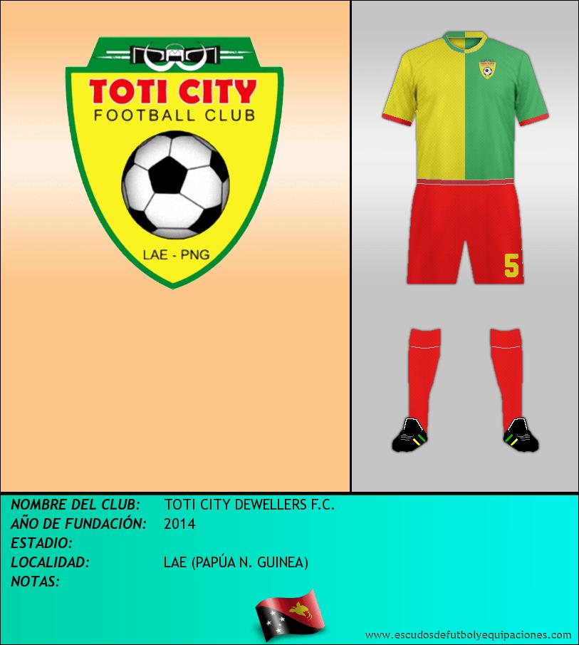 Escudo de TOTI CITY DEWELLERS F.C.