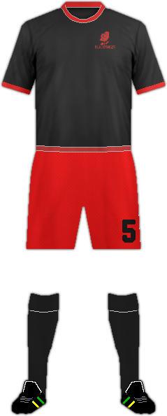 Equipación BLACK ROSES F.C.