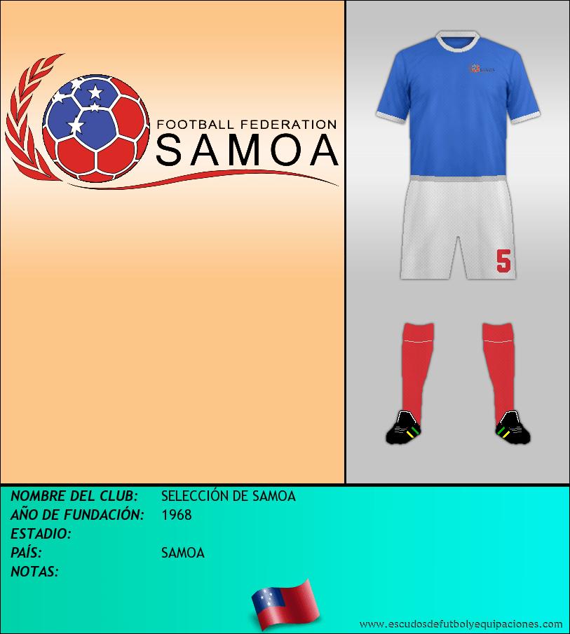 Escudo de SELECCIÓN DE SAMOA