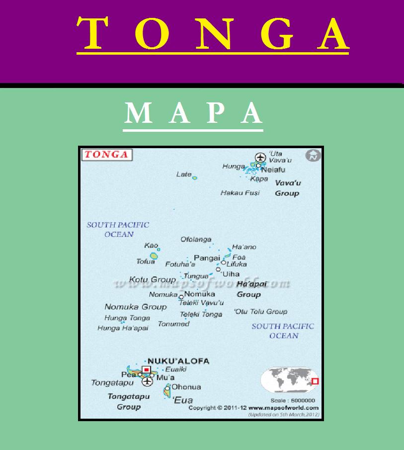 Escudo de MAPA DE TONGA