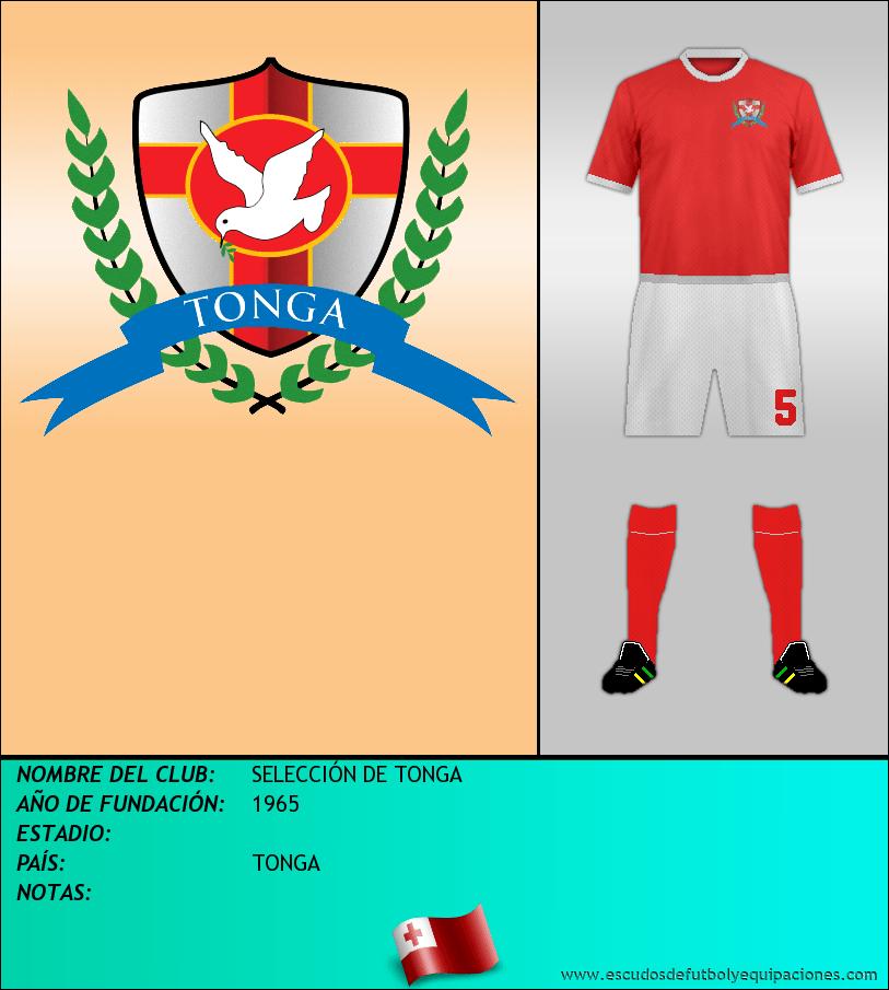 Escudo de SELECCIÓN DE TONGA