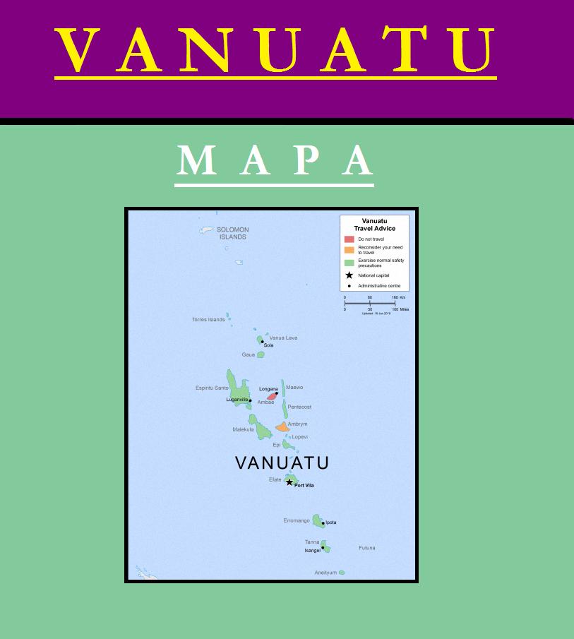 Escudo de MAPA DE VANUATU