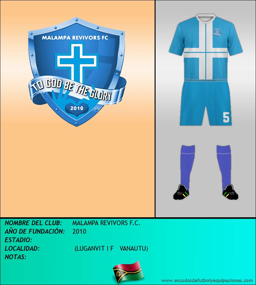 Escudo de MALAMPA REVIVORS F.C.