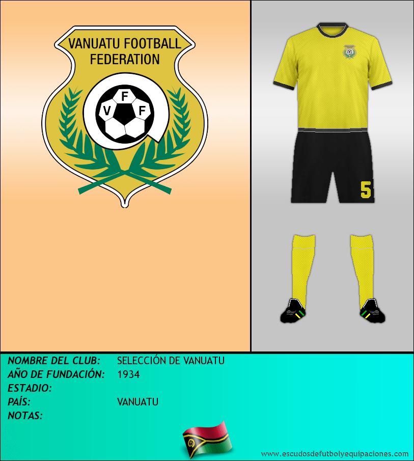 Escudo de SELECCIÓN DE VANUATU