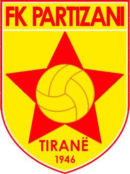 Escudo de F.K. PARTIZAN DE TIRANA (ALBANIA)