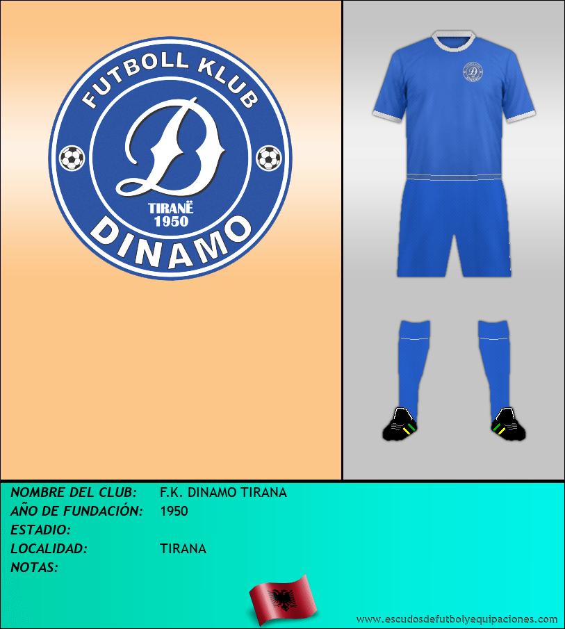 Escudo de F.K. DINAMO TIRANA