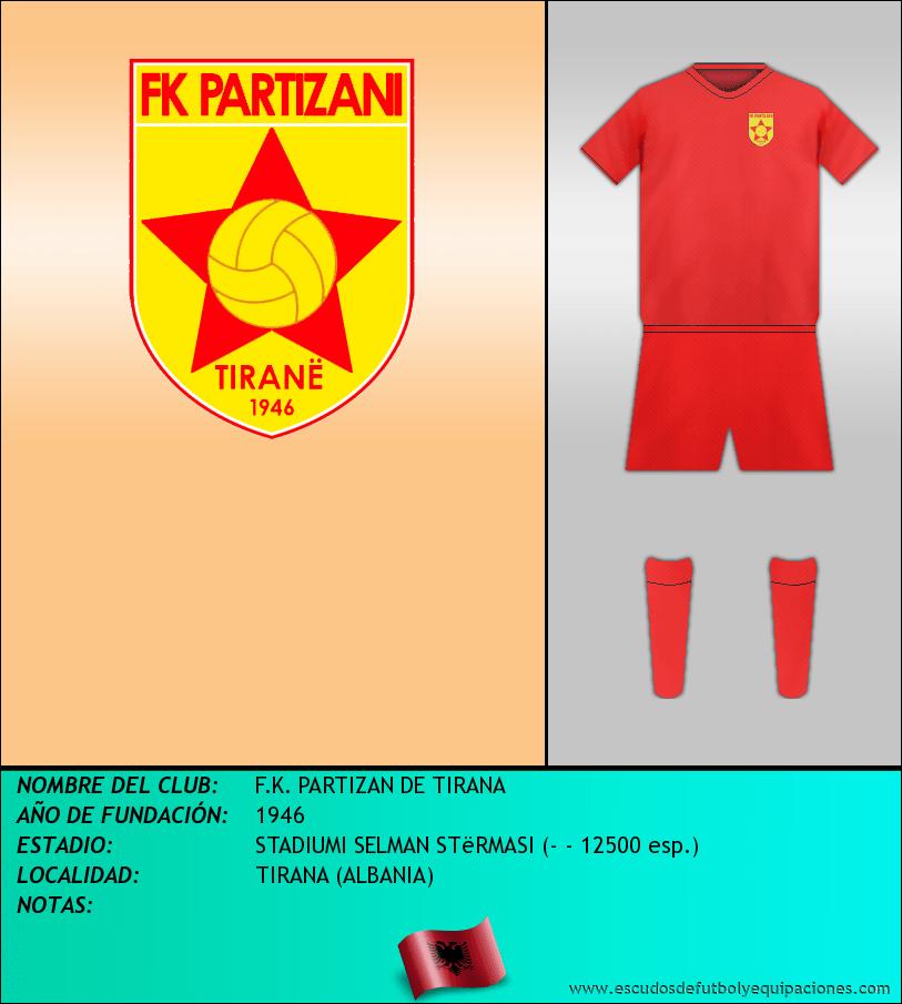 Escudo de F.K. PARTIZAN DE TIRANA