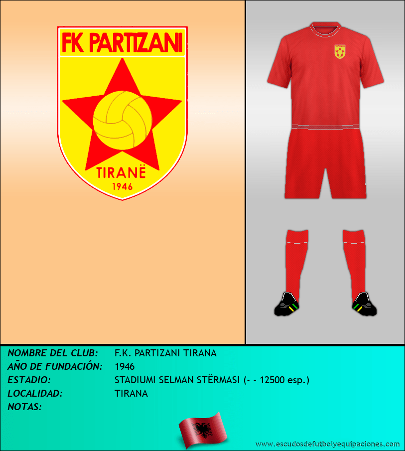 Escudo de F.K. PARTIZANI TIRANA
