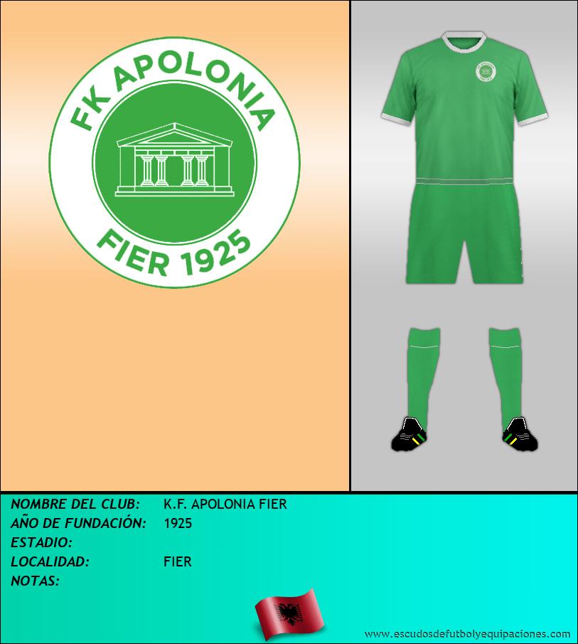 Escudo de K.F. APOLONIA FIER
