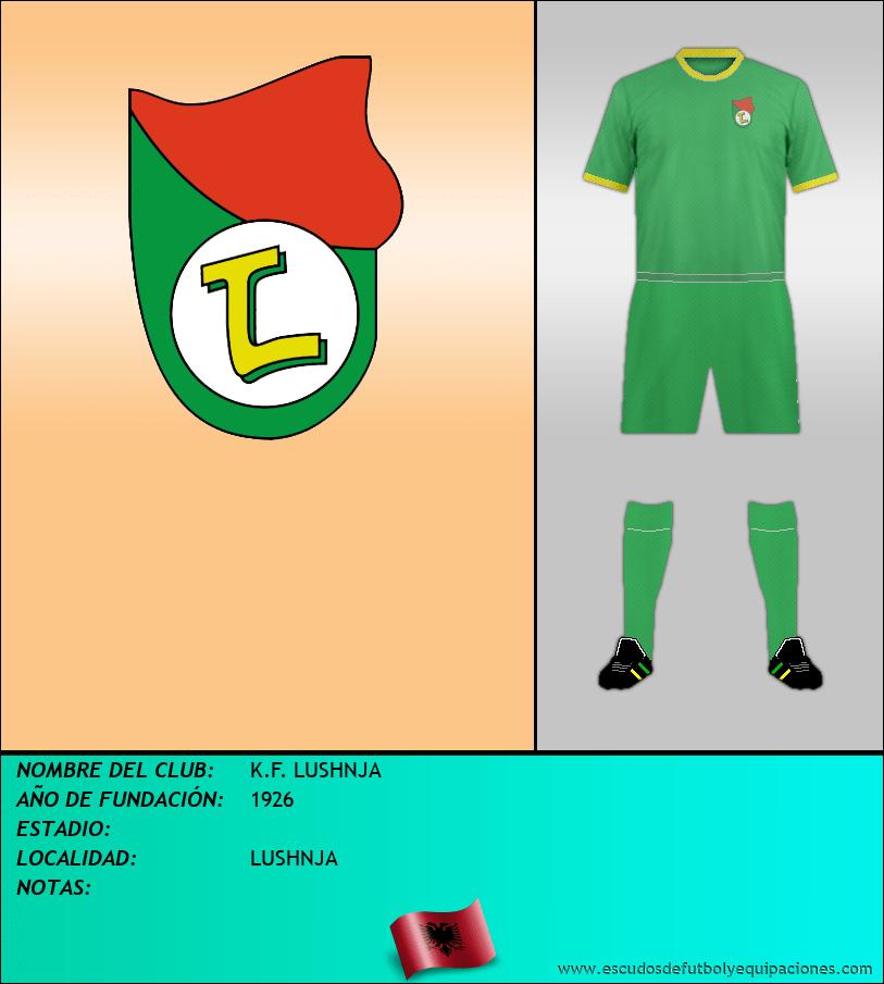 Escudo de K.F. LUSHNJA