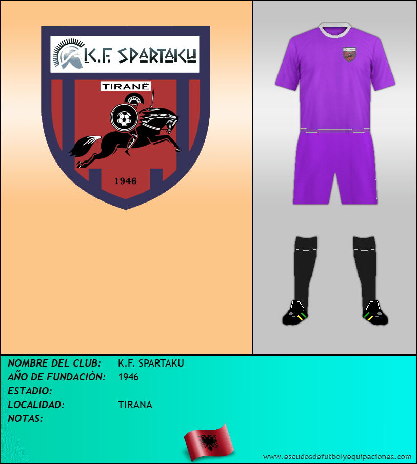 Escudo de K.F. SPARTAKU