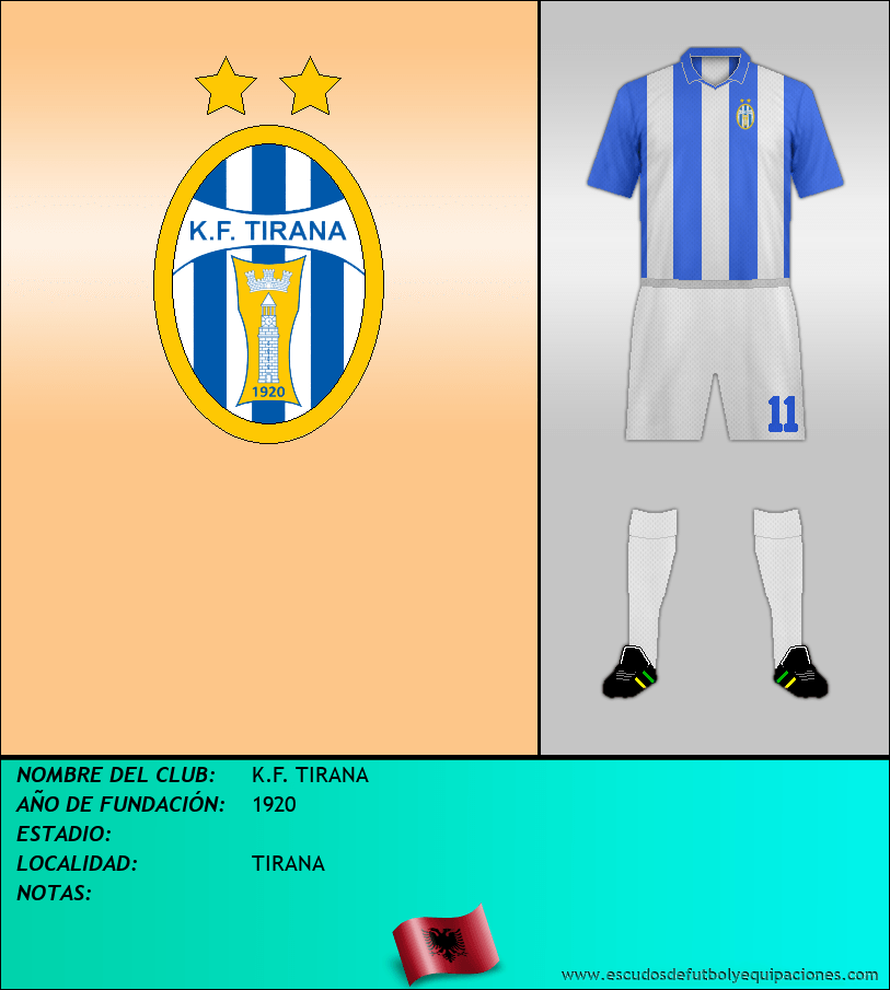 Escudo de K.F. TIRANA