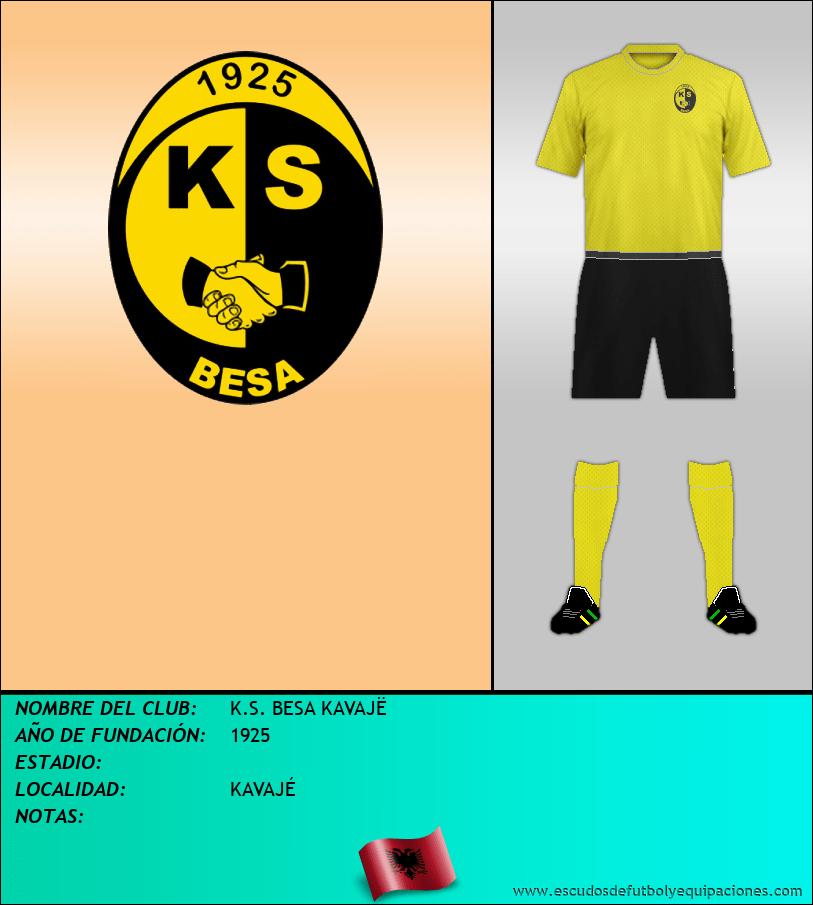Escudo de K.S. BESA KAVAJË