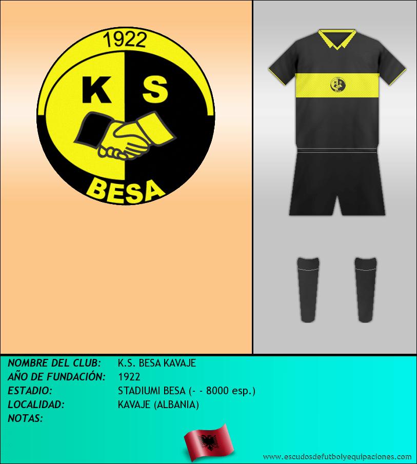 Escudo de K.S. BESA KAVAJE