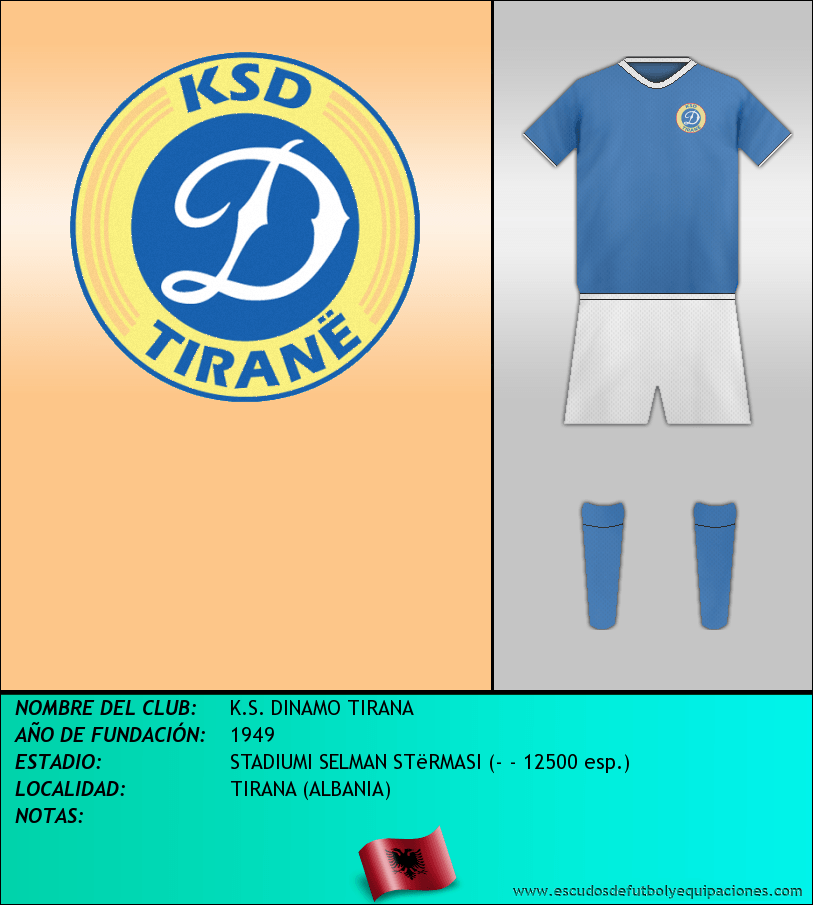Escudo de K.S. DINAMO TIRANA