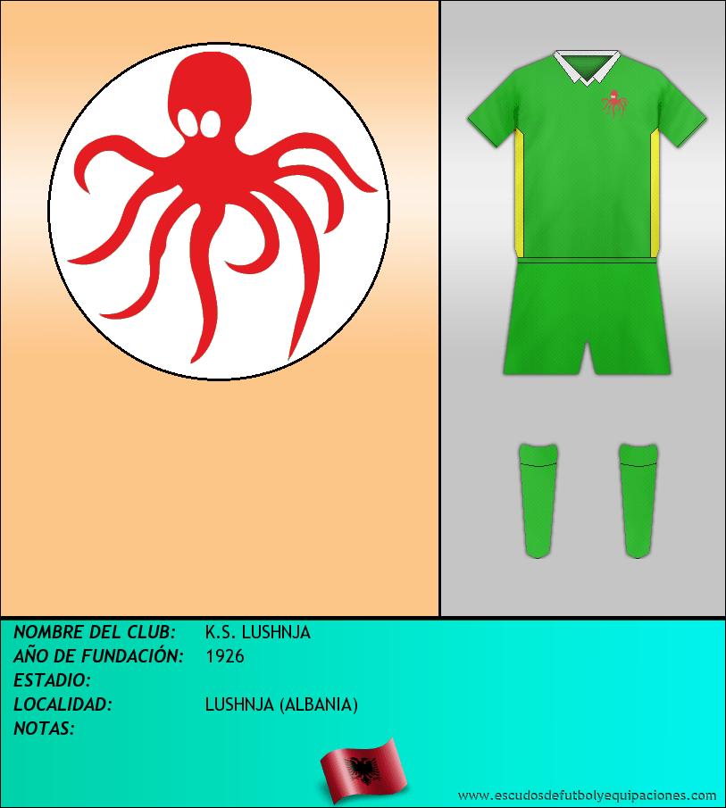 Escudo de K.S. LUSHNJA