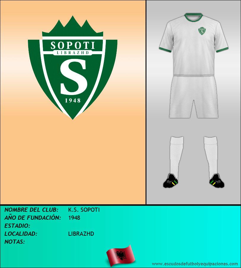 Escudo de K.S. SOPOTI
