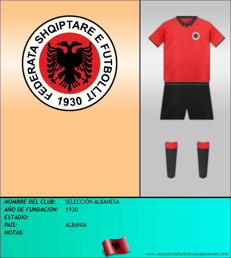 Escudo de SELECCIÓN ALBANESA